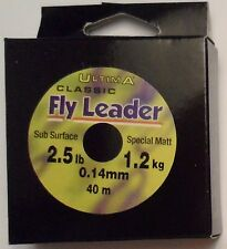 Ultima Classic Fly Leader 2.5 lb / 1.2 kg 0.14 mm 40m