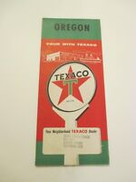 Vintage Texaco Oregon State Highway Gas Service Station Travel Road Map-Box N