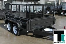 8X5 TANDEM HEAVY DUTY TRAILER WITH 2ft CAGE