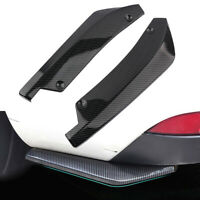 2xCarbon Fiber Car Rear Bumper Spoiler Canard Anti-crash Diffuser Angle Splitter