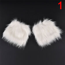 Lady Women Fluffy Fuzzy Faux Fur Fashion Dance Leg Warmers Muffs Boot Covers Jr M-20cm Style2