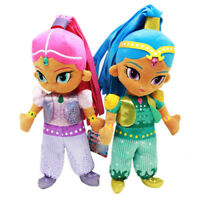"""12"""" Kids Shimmer and Shine plush Toys Soft Stuffed Cartoon Figures Cosplay Gifts"""