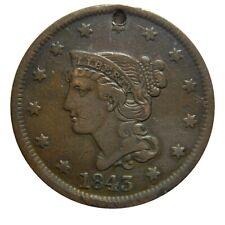 Large cent/penny holed 1843 sharp details