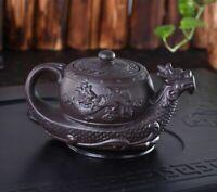 Chinese Tea Pot Yixing Purple Clay Teapot Kettle Traditional Dragon Capacity