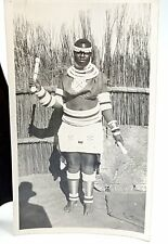 Vintage African Photo of a lady in a folk art costume  1940s.