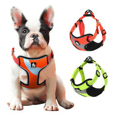 Reflective Step-In Dog Nylon Harness Medium Large Dogs Mesh Walking Vest S M L