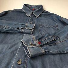 Signum Herren Hemd Jeans Hemd Denim Freizeithemd Lässig Geschnitten Gr. L