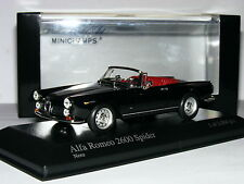 Minichamps 1964 ALFA ROMEO 2600 Spider Nero LTD ED 1/43