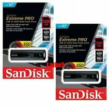 Sandisk Extreme Pro 128GB 256GB Solid State Flash Drive USB3.1 420MB/s CZ880