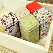Metal Tea Coffee Powder Storage Storage Tins Canister Boxes Caddy Stylish Wh