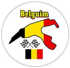 BELGIUM MOTOR RACING - (CIRCUIT / FLAG)  - ROUND SOUVENIR FRIDGE MAGNET - GIFT