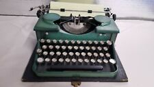 Green Vintage 1930's Royal Portable Typewriter  model P Very Nice Working