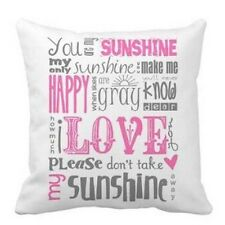 Sunshine Home Decor Sitting Room Zip Cotton Linen Cushion Cover Soft Pillow