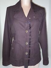 DIESEL Womens 3 Button Front Blazer Jacket Coat Sz M Medium Plum Wine Wool Blend