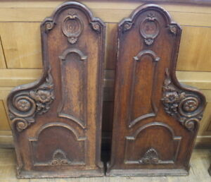 Extremely Rare Cast Iron Pew Ends