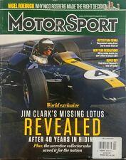 Motor Sport UK February 2017 Jim Clark's Missing Lotus Revealed FREE SHIPPING sb