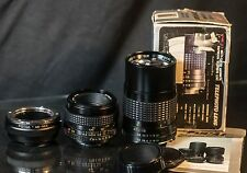 for SONY E-mount Lot 2 Lens 50mm f2.0 & 135mm f2 NEX bundle adapter Minolta MCMD