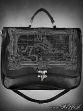 Restyle Map Black Carribbean Sea Ocean Gothic Black Bag Purse Satchel Handbag