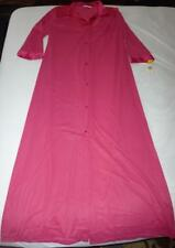 Vanity Fair Vintage Fire Ruby Button Front 3/4 Sleeve X Long Nightgown Sz M NWT