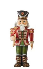 """13.5"""" ANIMATED NUTCRACKER Table Top Mantle MOVES Adorable RED 4016202 RAZ NEW!"""