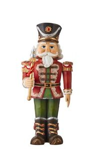 """13.5"""" ANIMATED NUTCRACKER Table Top Mantle WIND-UP Adorable RED 4016202 RAZ NEW!"""