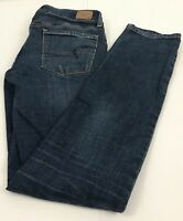 American Eagle Skinny Super Stretch Distressed Blue Jeans Women's 6 Regular