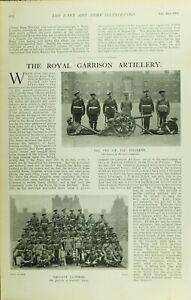 1902 PRINT ROYAL GARRISON ARTILLERY MASCOT GUN 31st COMPANY PRETORIA'S FORTS