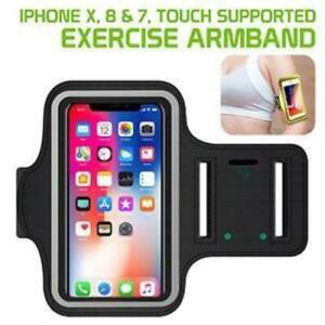 Exercise Sports Running Adjustable Armband & Key Holder - Apple iPhone X 8 & 7