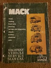 Oem Mack Semi Truck Component Highway Vehicle Service Repair Manual Ts 442