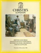 MODERN BRITISH & IRISH PAINTINGS WATERCOLOURS SCULPTURE 1988 Quality Catalogue