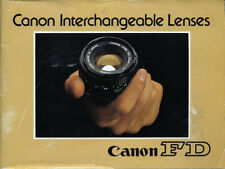 Canon FD – Canon Interchangeable Lenses Sales Guide Book PUB C-IE-075AT
