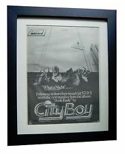 CITY BOY+Book Early+What A Night+POSTER+AD+ORIGINAL 1978+FRAMED+FAST GLOBAL SHIP