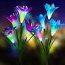 Solar LED Color Changing Light Lily Flower Garden Stake Lamp Outdoor Yard
