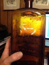 ONE GALLON NELSON BAKER MANUFACTURING CHEMISTS DETROIT MICHIGAN AMBER BOTTLE MI