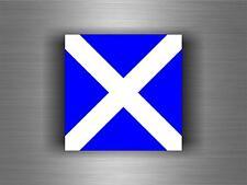 Sticker adesivi   codice internazionale nautica bandiera M MIKE segnalazione