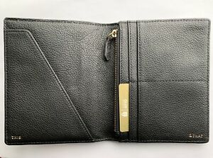 NWT FOSSIL RFID Passport Wallet Pewter Silver RP $55 Multi Pocket