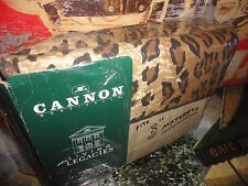CANNON LIVING LEGACIES SAFARI BLACK BROWN ANIMAL (4PC) FULL SHEET SET 180 TC