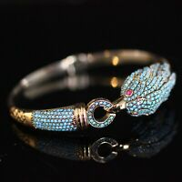 925 Sterling Silver Handmade Authetic Turkish Turquoise Bracelet Bangle Cuff
