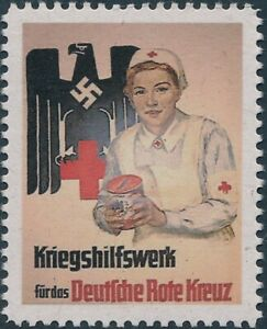 Stamp Replica Label Germany 0372 WWII Donate to Red Cross MNH