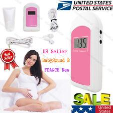 FDA Baby Sound Fetal Doppler Prenatal Heart Rate LCD monitor,Free Gel,US Seller