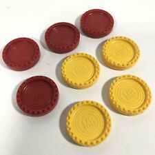 CONNECT 4 FOUR 4 Yellow And 4 Red Counters MB 1990s 2000/'s Spares Replacements