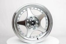 15x7 MST MT42 4x100/4x114.3 25 Silver Machined Wheels Rims Set(4)