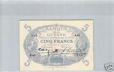 GUYANE SPECIMEN 5 FRANCS LOI 1901 (1942) K.40 N° 716 PICK 1d