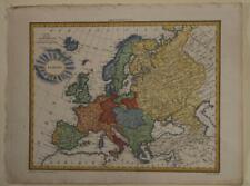 EUROPEAN CONTINENT 1812 CONRAD MALTE-BRUN ANTIQUE ORIGINAL COPPER ENGRAVED MAP