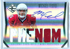 2012 Limited Phenom Michael Floyd On-Card Auto 3-Color Patch Rc # to 299