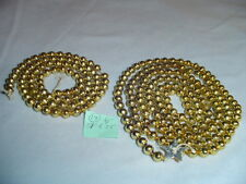 "Mercury Glass Christmas Garland Gold 51""& 28"" Long 1/4"" Across Bead #18 Vintage"