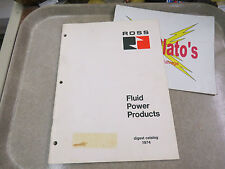 Ross Fluid Power Products Digest Catalog 1974