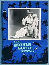 1920s Mother Goose Festival Theater Stage Play Photo Booklet Halloween Imagery