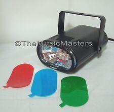 Mini Strobe Light Flashing Party Dance Lamp w/ Speed Control & 3 Color Filt