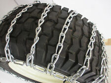 23 x 9.50 - 12 SNOW TIRE CHAINS FOR LAWN & GARDEN - PEERLESS MAX-TRAC - 2 LINK